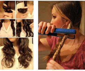 curly, wavy, and hair image