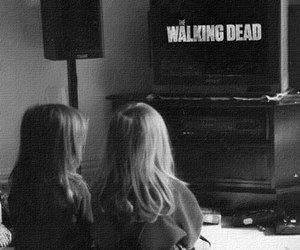 the walking dead, twd, and black and white image