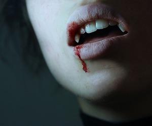vampire, blood, and teeth image