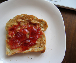 bread, butter, and food image