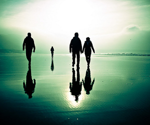 faceless, ocean, and reflections image