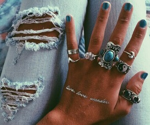 rings and jeans image