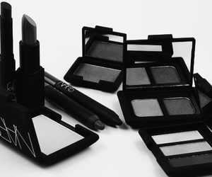 eyeshadow, makeup, and black image