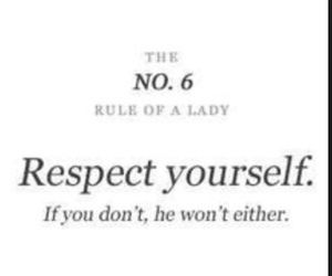 lady rules love reapect image