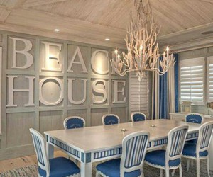 decor, beach house, and dining room image