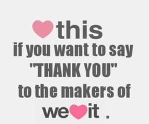 thank you and we heart it image