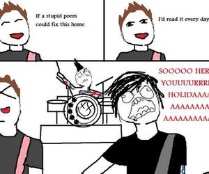 blink 182, funny, and meme image