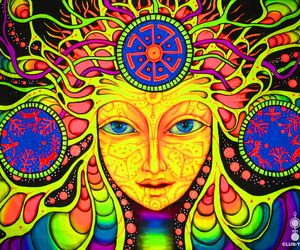 psychedelic, trippy, and the crazy mind image