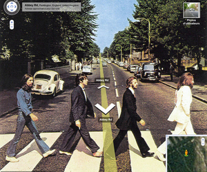 abbey road, beatles, and google image