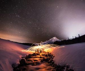 firework, ice, and stars image
