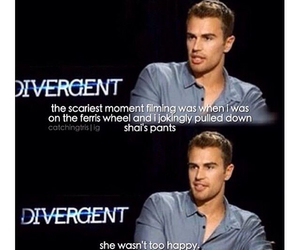 funny, divergent, and theo james image