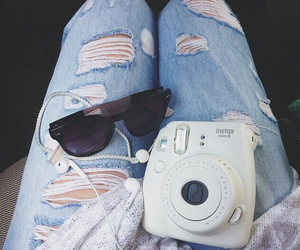 camera, fashion, and jeans image