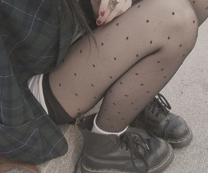 boots, fashion, and tights image