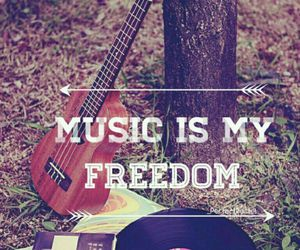 music, freedom, and guitar image
