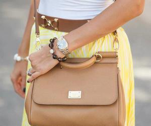bags, brown, and purse image