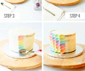 diy, cake, and rainbow image
