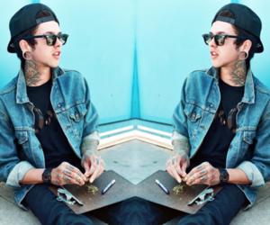 boy, tattoo, and t mills image