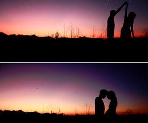 couple, romantic, and sky image