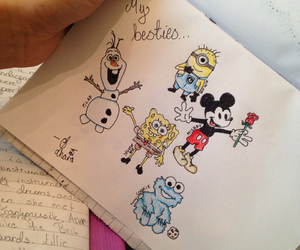 cookie monster, drawing, and mickeymouse image