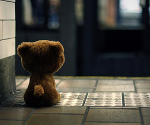 bear, toy, and lonely image