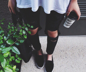 fashion, coffee, and black image