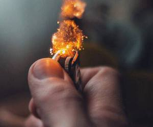 fire, hipster, and lighter image