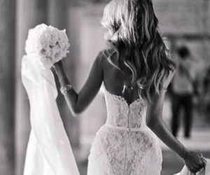 beautiful, bride, and lovely image