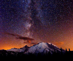galaxy, milky way, and mountain image