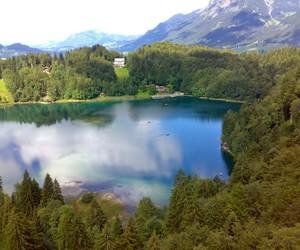 blue, lake, and nature image
