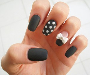 black, bow, and matte image
