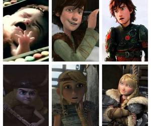 astrid, hiccup, and berk image