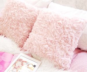 pink, bedroom, and pillow image