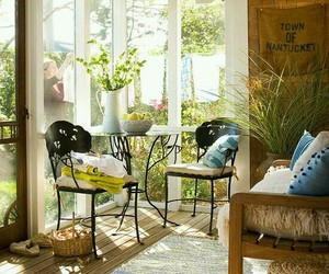 country living, decor, and sunroom image