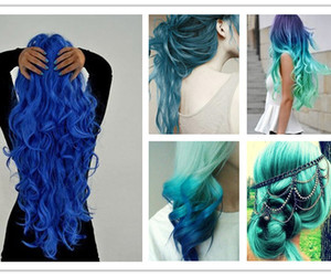 fashion, pastel, and hair color image