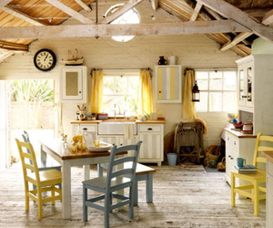 kitchen, chairs, and cottage image