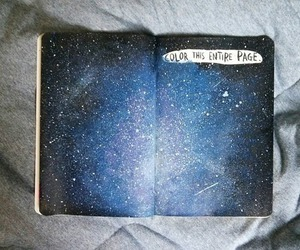 cool, universe, and drawing image