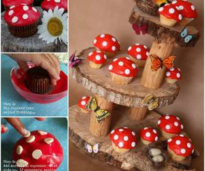 cupcake, diy, and butterfly image