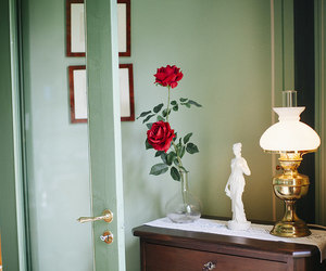 lamp, light colors, and pretty little things image