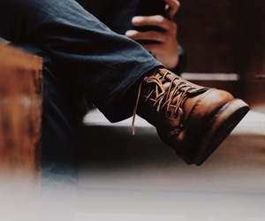 boots, brown, and green image