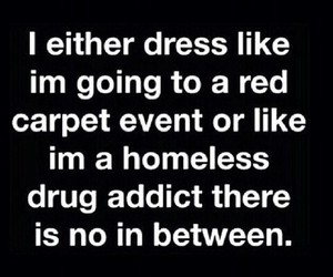 dress, funny, and homeless image