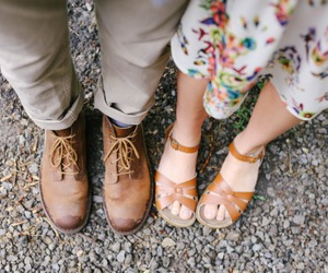 couple, shoes, and love image