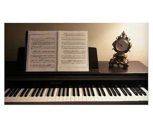 musical note, slow, and piano image