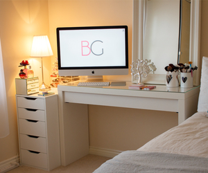 apple, room, and bed image