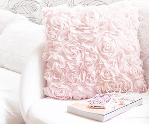 pink, pillow, and rose image