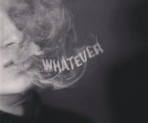 whatever, smoke, and black and white image