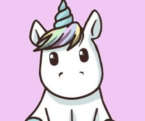 kawai, cute, and baby unicorn image