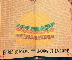 food and write image