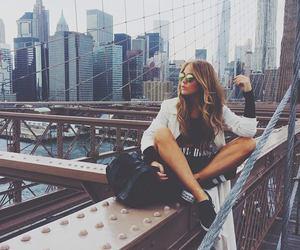 girl, fashion, and city image