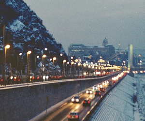 city, light, and vintage image
