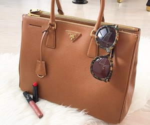 Prada, bag, and lipstick image
